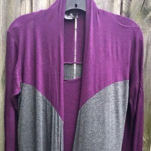 💕Lavish Color Block Purple Cardigan
